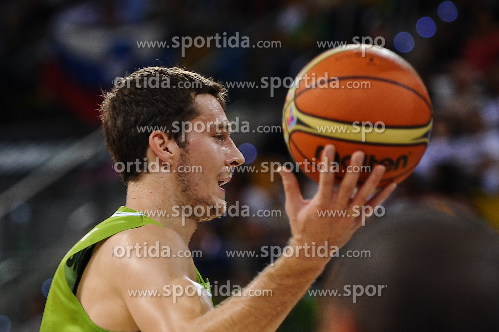 Goran Dragic of Slovenia during basketball match between National Teams of Slovenia and Korea in Round 3 of Group D of FIBA Basketball World Cup Spain 2014, on September 2, 2014 in Gran Canaria Arena, Las Palmas, Canary Islands. Photo by Tom Luksys  / Sportida.com <br /> ONLY FOR Slovenia, France