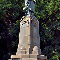 Shimazu Nariakira Statue at Terukuni Shrine in Kagoshima, Japan<br />