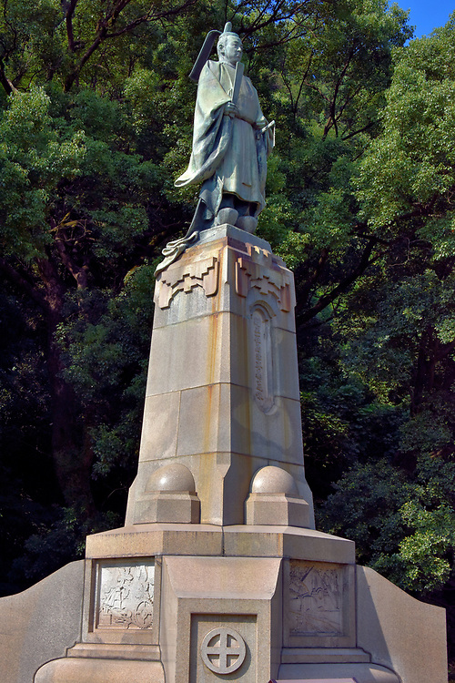 Shimazu Nariakira Statue at Terukuni Shrine in Kagoshima, Japan<br /> Although Shimazu Nariakira was only the 28th Lord of the Satsuma Domain from 1851 – 1858, he had an enormous impact on the region's culture and industrialization. His fascination with everything Western led to his creating a shipyard, a manufacturing plant (Shuseikan) for textiles, iron and cannons, adopting foreigner's military techniques and Morse code, creating a school for Western science and technology plus introducing cameras to Japan. His mentorship shaped two great Japanese men: Saigō Takamori and Ōkubo Toshimichi. The former overthrew the Tokugawa shogunate and instigated the Satsuma Rebellion. Ōkubo was a leader of the early Meiji Restoration and architect for modernizing Japan.