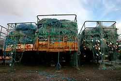 IRELAND KERRY DINGLE 6NOV05 - Fishing nets stored on old trailers in the harbour of Dingle Town on the same named Peninsula, Irelands most westerly county...jre/Photo by Jiri Rezac..© Jiri Rezac 2005..Contact: +44 (0) 7050 110 417.Mobile: +44 (0) 7801 337 683.Office: +44 (0) 20 8968 9635..Email: jiri@jirirezac.com.Web: www.jirirezac.com..© All images Jiri Rezac 2005 - All rights reserved.