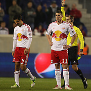 Rafa Marquez, Red Bulls, is sent off by referee Mark Geiger during the New York Red Bulls V D.C. United Major League Soccer, Eastern Conference Semi Final 2nd Leg match at Red Bull Arena, Harrison. New Jersey. USA. 8th November 2012. Photo Tim Clayton