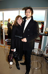 Actress EVA BIRTHISTLE and RALFE BURCHELL at the 50th running of the Hennessy Gold Cup at Newbury Racecourse, Berkshire on 25th November 2006.<br /><br />NON EXCLUSIVE - WORLD RIGHTS