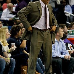 February 2, 2012; New Orleans, LA, USA; Phoenix Suns head coach Alvin Gentry against the New Orleans Hornets during the second half of a game at the New Orleans Arena. The Suns defeated the Hornets 120-103.  Mandatory Credit: Derick E. Hingle-US PRESSWIRE