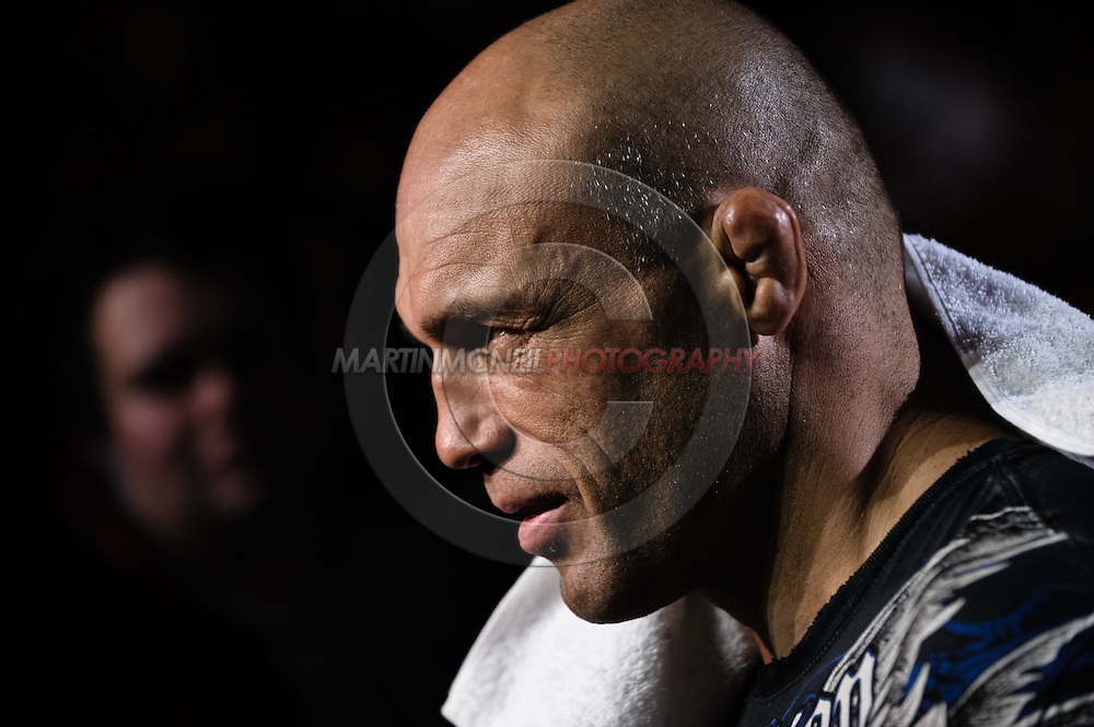 "MANCHESTER, ENGLAND, NOVEMBER 14, 2009: Randy Couture enters the arena during ""UFC 105: Couture vs. Vera"" inside the MEN Arena in Manchester, United Kingdom"
