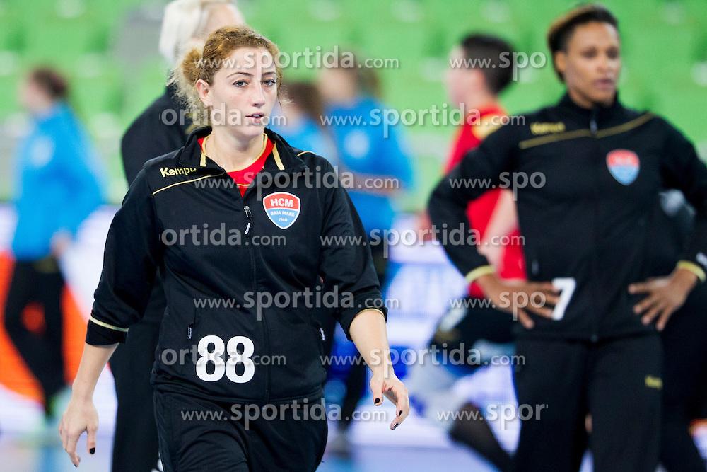 Patricia Vizitiu of HCM Baia Mare during handball match between RK Krim Mercator (SLO) and HCM Baia Mare (ROM) in 1st Round of Women's EHF Champions League 2015/16, on October 16, 2015 in Arena Stozice, Ljubljana, Slovenia. Photo by Urban Urbanc / Sportida