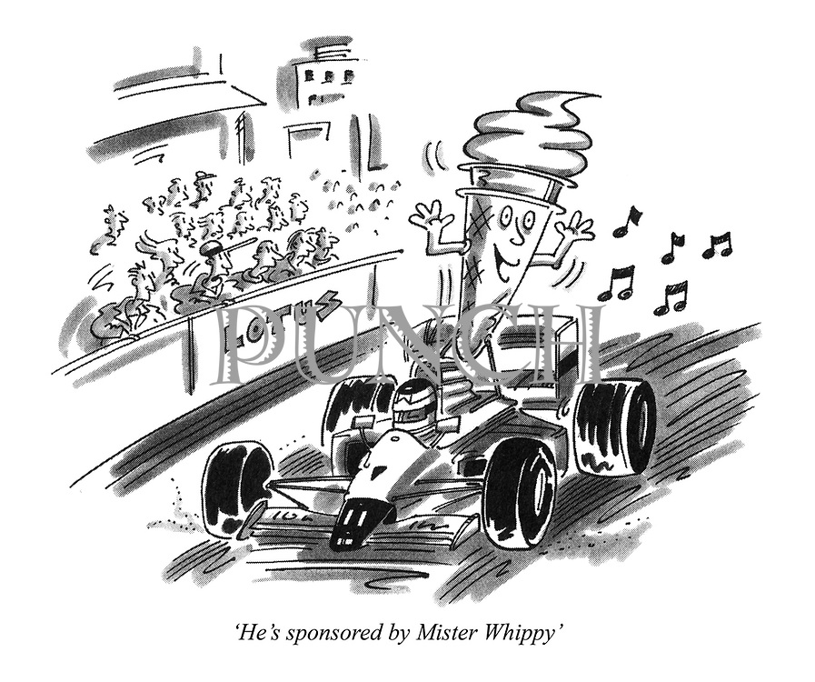 'He's sponsored by Mister Whippy'