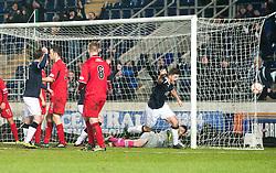 Falkirk's Stewart Murdoch celebrates after scoring their goal..Falkirk 1 v 1 Raith Rovers, 5/3/2013.