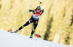 Justine Braisaz of France competes during Women 7.5 km Sprint at day 1 of IBU Biathlon World Cup 2014/2015 Pokljuka, on December 18, 2014 in Rudno polje, Pokljuka, Slovenia. Photo by Vid Ponikvar / Sportida