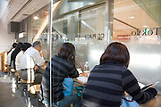 inside a fast food eatery in Tokyo Japan