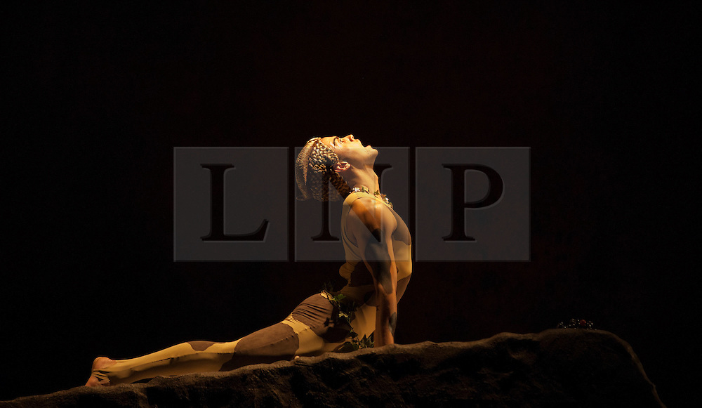 "© Licensed to London News Pictures. 15/05/2012. London, England. Rambert Dance Company - London Spring Season 2012 performing ""L'Après-midi d'un faune"", the Rambert version of Nijinsky's choreography with Dane Hurst as the Fawn. Sadler's Wells Theatre, London. Photo credit: Bettina Strenske/LNP"