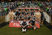 Twickenham, England. New Zealand, NZ, , winners of the Cup Final, defeating Fiji, at the London Sevens Rugby, Twickenham Stadium, Sun, 27/05/2007 [Credit Peter Spurrier/ Intersport Images]