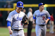 PHOENIX, AZ - JUNE 14:  Kenta Maeda #18 of the Los Angeles Dodgers smiles after warming up prior to the game against the Arizona Diamondbacks at Chase Field on June 14, 2016 in Phoenix, Arizona. Los Angeles Dodgers won 7-4.  (Photo by Jennifer Stewart/Getty Images)