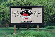 Clam Lake Wisconsin Elk Capital Sign