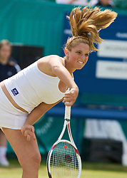 LIVERPOOL, ENGLAND - Thursday, June 12, 2008: Tamaryn Hendler (BEL) in action during the Women's Singles on Day Three of the Tradition-ICAP Liverpool International Tennis Tournament at Calderstones Park. (Photo by David Rawcliffe/Propaganda)
