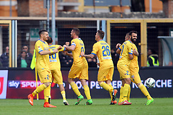 """Foto Filippo Rubin<br /> 26/03/2017 Ferrara (Italia)<br /> Sport Calcio<br /> Spal vs Frosinone - Campionato di calcio Serie B ConTe.it 2016/2017 - Stadio """"Paolo Mazza""""<br /> Nella foto: GOAL DI CIOFANI<br /> <br /> Photo Filippo Rubin<br /> March 26, 2017 Ferrara (Italy)<br /> Sport Soccer<br /> Spal vs Frosinone - Italian Football Championship League B ConTe.it 2016/2017 - """"Paolo Mazza"""" Stadium <br /> In the pic: CIOFANI GOAL"""