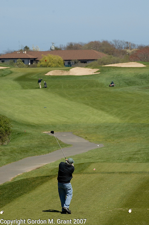 Montauk, NY - 5/8/07 -  Images from Montauk Downs State Golf Course in Montauk, NY May 8, 2007.  8th hole.   (Photo by Gordon M. Grant)