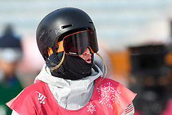 February 19, 2018 - Pyeongchang, SOUTH KOREA - 180219 Julia Marino of USA competes in the Women's Big Air Qualification during day ten of the 2018 Winter Olympics on February 19, 2018 in Pyeongchang..Photo: Carl Sandin / BILDBYRÃ…N / kod CS / 57999_306 (Credit Image: © Carl Sandin/Bildbyran via ZUMA Press)