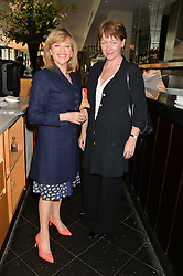 Left to right, EDINA RONAY and SUSAN GILMOUR at a ladies lunch in aid of the charity Maggie's held at Le Cafe Anglais, 8 Porchester Gardens, London on 29th April 2014.