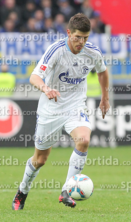 18.03.2012, Fritz Walter Stadion, Kaiserslautern, GER, 1.FC Kaiserslautern vs FC Schalke 04, 26. Spieltag, im Bild Klaas Jan HUNTELAAR (FC Schalke 04), Freisteller, Aktion /Action // during the German 'Bundesliga' Match, 26th Round, between 1.FC Kaiserslautern and FC Schalke 04 at the Fritz Walter Stadium, Kaiserslautern, Germany on 2012/03/18. EXPA Pictures © 2012, PhotoCredit: EXPA/ Eibner/ Neis     ATTENTION - OUT OF GER *****