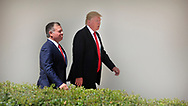 President Donald Trump and King Abdullah II hold a news conference in the Rose Garden on April 5, 2017.<br />