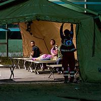 Tendopoli per migranti a Roma