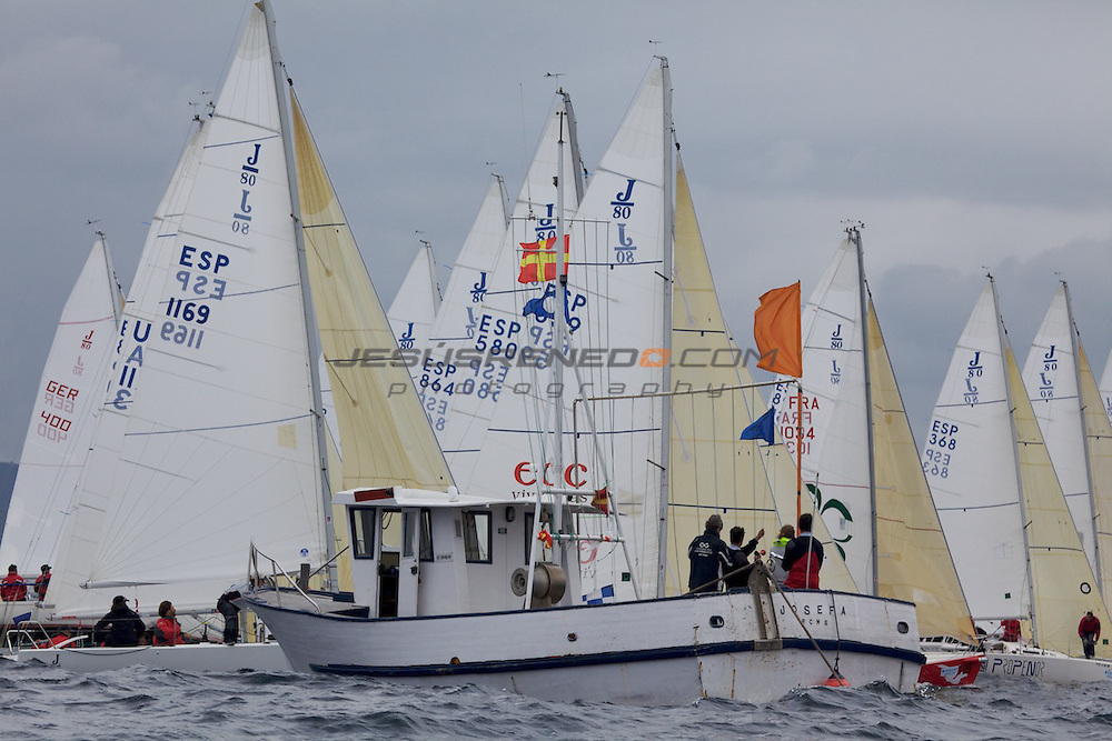 santader worlds j80,practice race