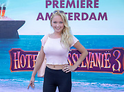 2018, 15 Juli. Pathe ArenA, Amsterdam. Premiere van Hotel Transsylvanie 3. Op de foto: Lente Voorhoeve