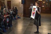 Whitechapel Gallery Art Icon Gala, supported by the Swarovski Foundation, Honoring the lifetime achievement of Joan Jonas. Christ Church Spitafields. London.