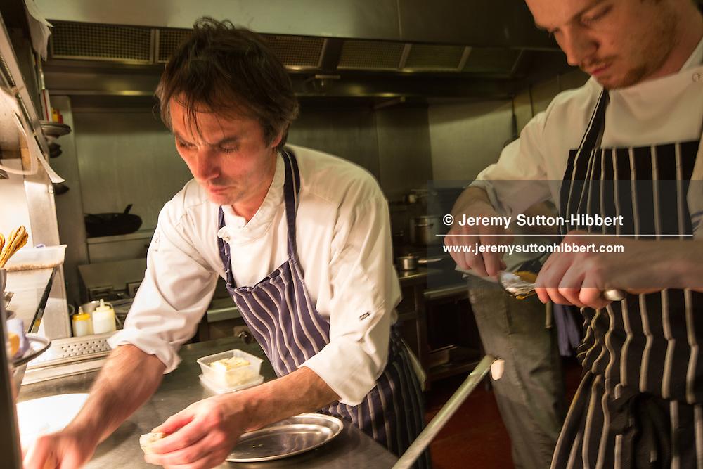 James Freeman, chef at Scottish Malt Whisky Society, Edinburgh, Scotland, 27th February 2015.