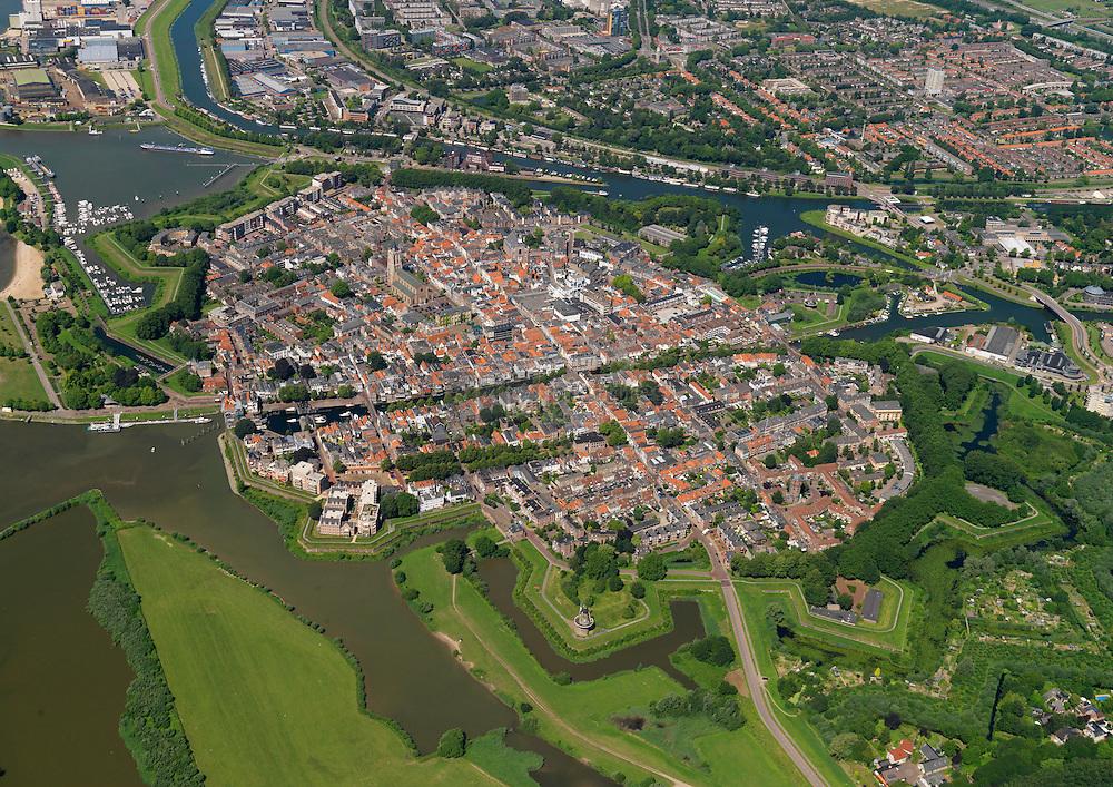 Oude binnenstad van Gorkum of Gorcum aan de rivier de Merwede
