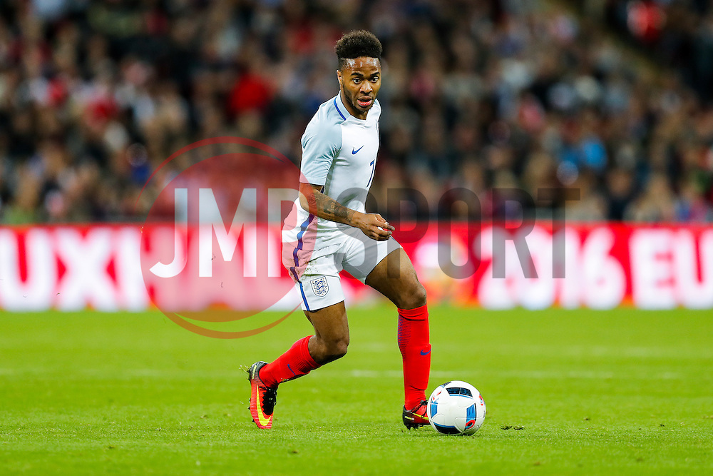 Raheem Sterling of England in action - Mandatory byline: Rogan Thomson/JMP - 02/06/2016 - FOOTBALL - Wembley Stadium - London, England - England v Portugal - International Friendly.