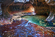This tubular area in Zion National Park is known as 'The Subway'.