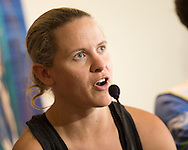 Sarah Crowley (AUS) at the official press conference of the 2013 Ironman Cairns Triathlon Festival. Pullman Hotel, Cairns, Queensland, Australia. 06/06/2013. Photo By Lucas Wroe