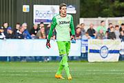 Leeds United goalkeeper Kamil Miazek (13) during the Pre-Season Friendly match between Guiseley  and Leeds United at Nethermoor Park, Guiseley, United Kingdom on 11 July 2019.