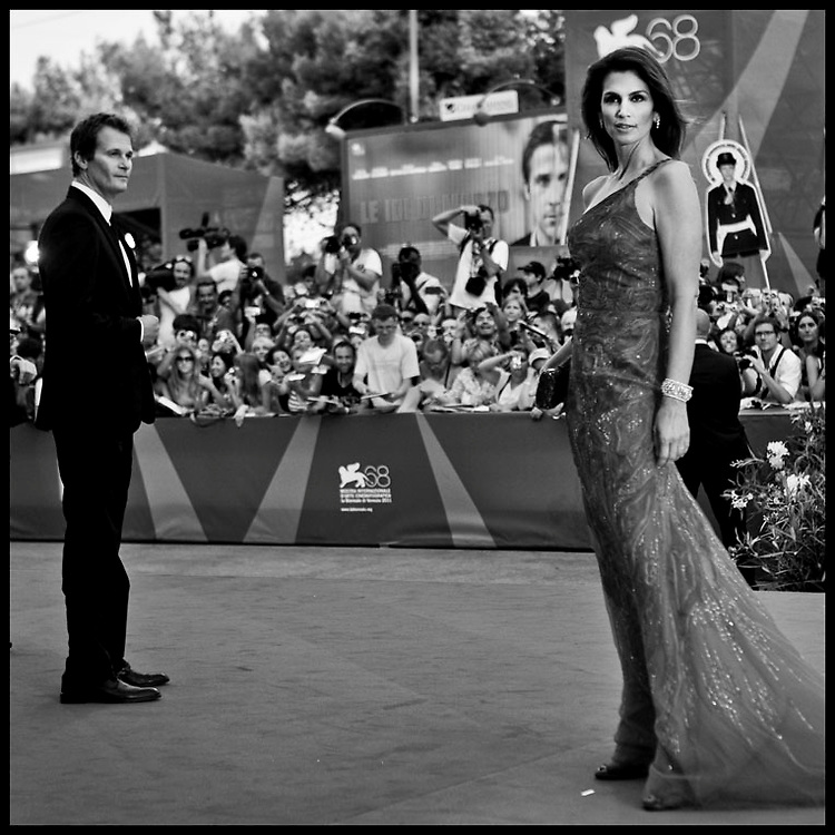 Rande Gerber and Cindy Crawford attend 'The Ides of March' Premiere during the 68th Venice International Film Festival.