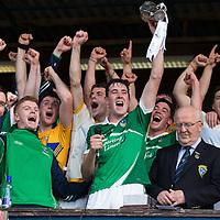 Limerick team celebrate winning the U21 Munster Hurling Final 2015 in Cusack Park