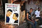 Young Rising Barbing Shop.  Makeni, Sierra Leone