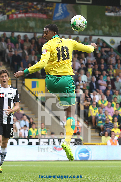 Leroy Fer of Norwich in action during the Sky Bet Championship match at Carrow Road, Norwich<br /> Picture by Paul Chesterton/Focus Images Ltd +44 7904 640267<br /> 16/08/2014