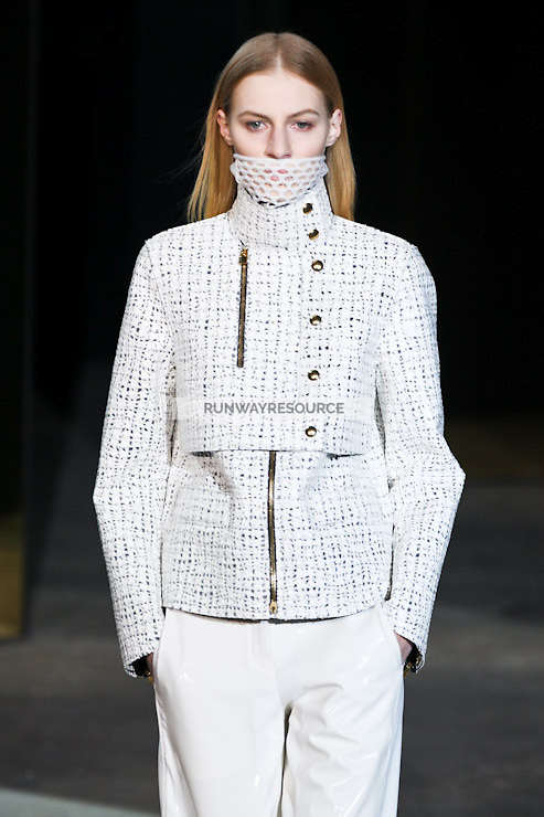 Julia Nobis walks down runway for F2012 Alexander Wang's collection in Mercedes Benz fashion week in New York on Feb 12, 2012 NYC