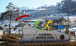 The Sliding Centre during a preview day at the Alpensia Sports Park, ahead of the PyeongChang 2018 Winter Olympic Games in South Korea.