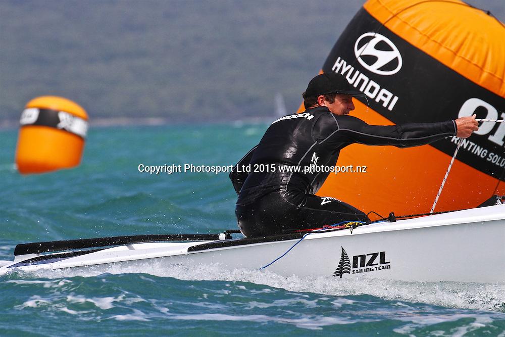 Race 7 Finn Gold Cup Takapuna - Andrew Murdoch (NZL)