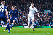 Leeds United defender Ben White (5) in action during the EFL Sky Bet Championship match between Leeds United and Huddersfield Town at Elland Road, Leeds, England on 7 March 2020.