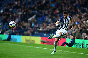 West Bromwich Albion defender Kieran Gibbs (3) crosses during the Premier League match between West Bromwich Albion and Burnley at The Hawthorns, West Bromwich, England on 31 March 2018. Picture by Dennis Goodwin.