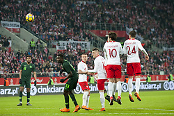 March 23, 2018 - Wroclaw, Poland - Dawid Kownacki (24) and Grzegorz Krychowiak (10) of Poland pictured in action during the international friendly match between Poland and Nigeria at Wroclaw Stadium in Wroclaw, Poland on March 23, 2018  (Credit Image: © Andrew Surma/NurPhoto via ZUMA Press)