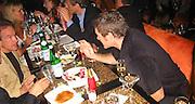 Warren Beatty & David Keith.Man Ray Restaurant Opening Party.Man Ray Restaurant.New York,  NY .July 11, 2001.Photo by Celebrityvibe.com..