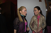 Alexandra von Furstenberg, Marianne Ourevans. Page Six fashion week party hosted by Lachlan & Sarah Murdoch. Guastavino's. 409 E 59 St. NY. 9/2/00<br />