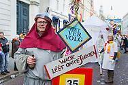 Nederland, Den Bosch, 20160306.<br /> Carnaval in Oeteldonk. Op zondag is de uitgestelde Carnavalsoptocht. De optocht was eerder afgelast tijdens de carnaval vanwege noodweer. <br /> Ter gelegenheid van het Jeroen Boschjaar is het thema: 'D&egrave;'s &eacute;cht Bosch. <br /> <br /> <br /> Netherlands, Den Bosch, 20160306.<br /> Carnival in Oeteldonk. This Sunday, the deferred Carnival parade goes through town