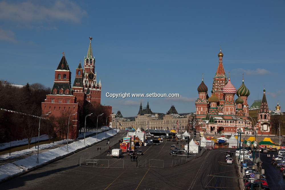 red square Moskow Russia /// Place Rouge Moscou Russie