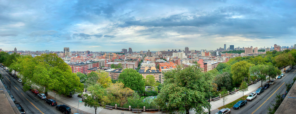 Morningside Heights, New York City.  View from Columbia University looking towards Harlem.  Image captured 2011.<br />