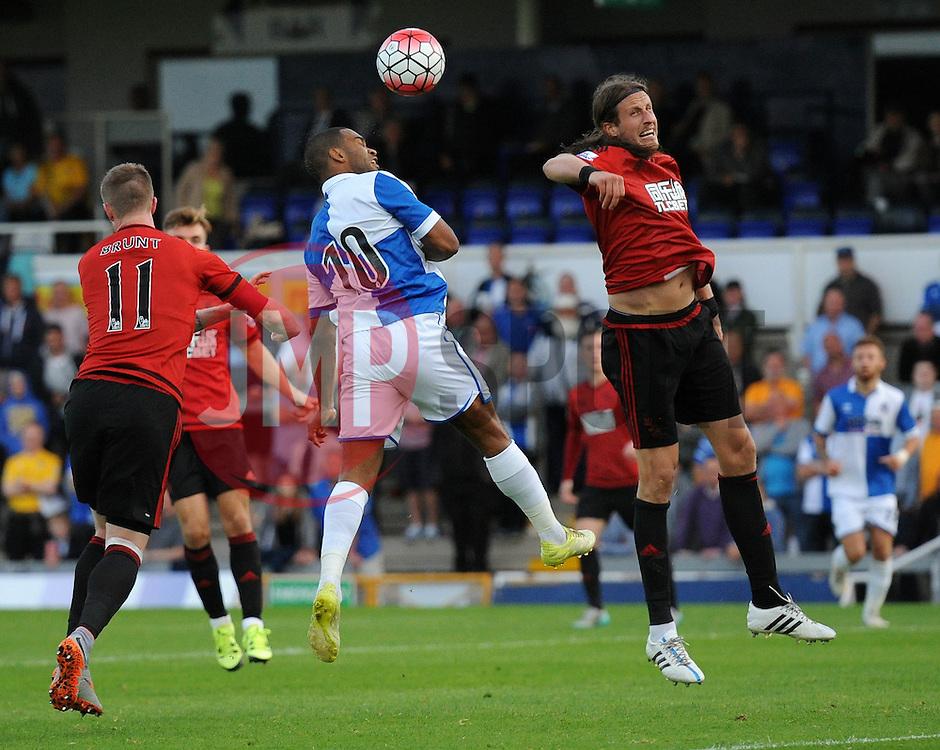 Jermaine Easter of Bristol Rovers heads towards goal - Mandatory byline: Dougie Allward/JMP - 07966386802 - 31/07/2015 - FOOTBALL - Memorial Stadium -Bristol,England - Bristol Rovers v West Brom - Phil Kite Testimonial Match